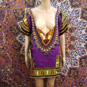 Genuine Dashiki wrap tunic size large